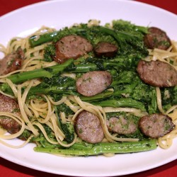 Linguine with Broccoli Rabe and Sausage